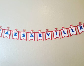 Dr Seuss name banner