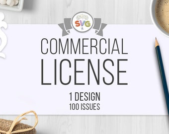 Commercial Use Licensing SVG/ Commercial Use License SVG files Small Business Commercial License for 1 Design SVG File - 100 Uses Per Design