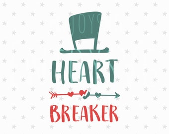 Heart Breaker svg Valentine's day svg Baby boy svg Baby svg First Valentines Day svg Valentine's Day svg Baby svg File Silhouette Baby dxf
