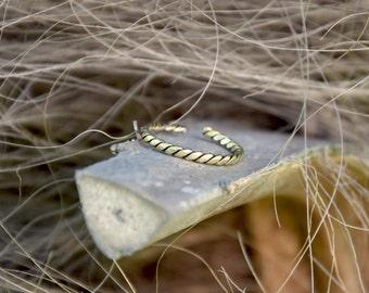 AS PAIR adjustable brass toe ring middle finger twisted simple bague de pied bague d'orteil laiton ajustable dreadlocks