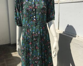 Vintage sweet flower dress