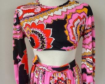 70s Ellen Tracy Boho Crop Top