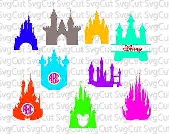 Princess Castle SVG, Disney Castle files, cricut Castle, Castle svg file, Clip Art Castle, Castle cut file, silhouette file DXF castle