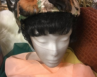 Sue Lee feather hat