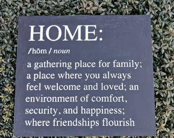 Home Definition - Wood Sign