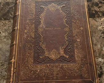 AMAZING HOLY BIBLE from 1857, Vintage, Author - God, personal possession of the Jones family, American Bible Society, New York, Christian