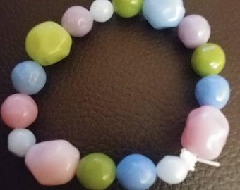 Handmade Soft tones stretchy bracelet