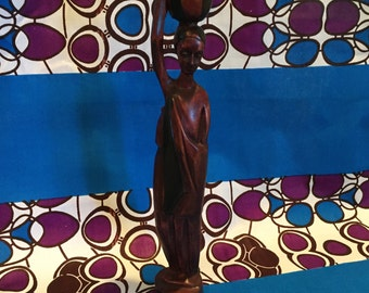 Wooden Rwandan Statue