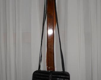 Authentic vintage Mazzini bag ! Velvet and genuine leather !