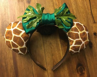 Giraffe Animal Kingdom Mouse Ears Headband