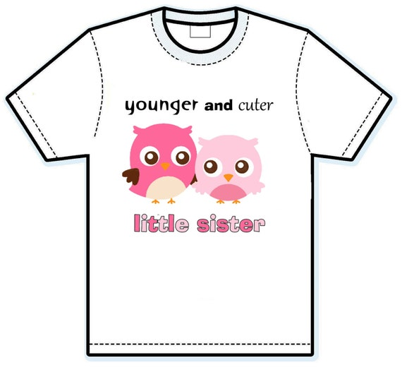 Little Sister owl sibling shirt