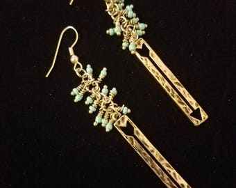 Silver and Turquoise Dangles