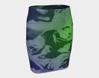 Tank Girl Lori Petty Print Fitted Skirt