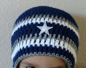 Dallas Cowboys Hat- Cowboys Beanie- Winter Hat- Dallas Hat-Football Hat