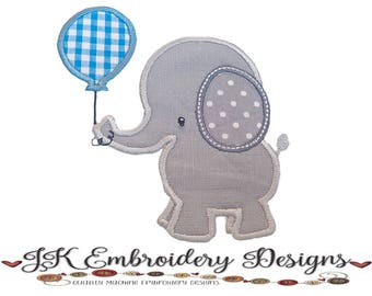 Little Elephant 3 Applique Machine Embroidery Design, 2 sizes for 5x7 and 6x10 hoop, elephant embroidery, applique, embroidery design file