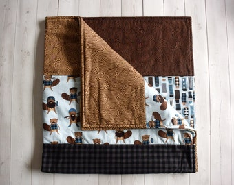 Modern baby quilt - Hipster quilt - Modern quilt - Baby quilt - Toddler quilt - Baby shower gift - Woodland quilt - Gift for baby