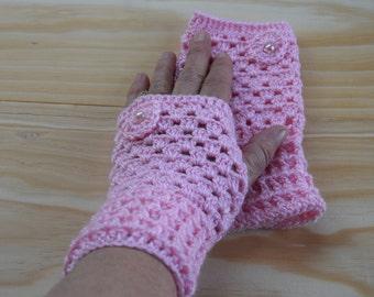 Fingerless gloves mittens , Fingerless wool gloves, Crochet fingerless glove, Fingerless arm warmer, Crochet Fingerless mittens