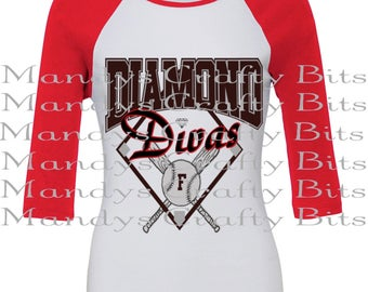 SVG Diamond Divas  Baseball Design