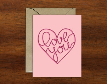 Love You Card - A2 Card - Typography