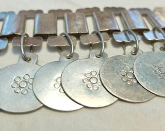 Mujeres Artisanias silver bracelet,  Chile