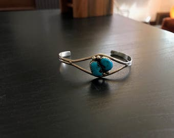 small turquoise sterling silver cuff