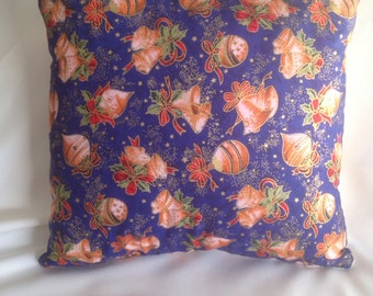 Blue Christmas Cushion