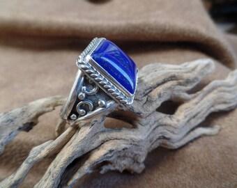 Unique Men's Denim Lapis ring 1269