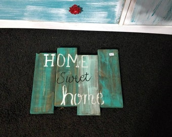 It's a home sweet home pallet sign! Perfect for a porch or in a front entrance.