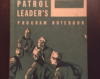 Boy Scouts of America Patrol Leaders Program Notebook- 1959