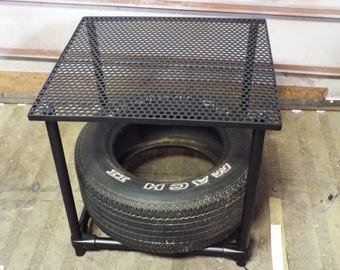 Steel Tire Display Table Car Part Furniture Mancave