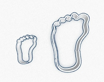 Footprint 2 pcs Baby-Shower Biscuit Cookie Cutter Fondant Cake Decorating Mold Cupcake