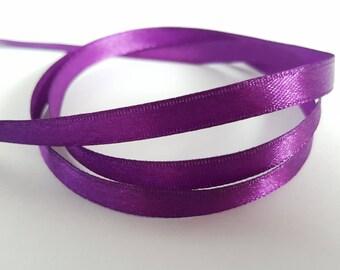 6mm Satin ribbon, Satin ribbon, Single sided ribbon, Ribbon, Ribboncrafts, Satin, Ribbon roll, Purple ribbon, Purple