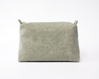Canvas Beige pouch, travel pouch, cosmetic bag, makeup bag
