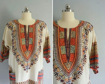1970s Tikal tunic | vintage 70s tunic | vintage 70s top