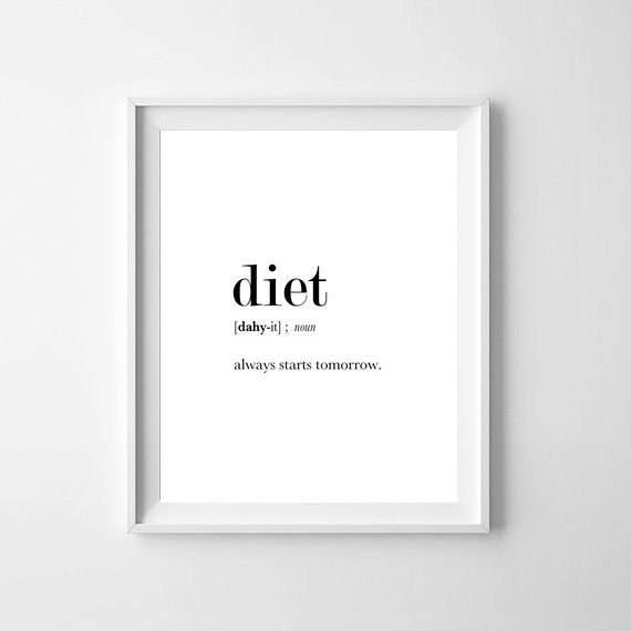 Diet Definition Print Diet Printables Funny Print Funny