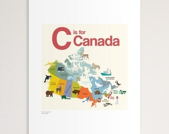 """C is for Canada 11""""x14"""" Print"""