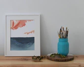 Landscape Print, Nature Prints, Nature Art, Housewarming Gift, Sky Art, Art Print, Sunset Painting, Wall Art Print, Wall Decor, Nature Lover