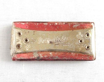 Antique German Weltmeister Vermona Harmonica. Mouth Music Weltmeister Harmonica. Germany Musical Instrument.