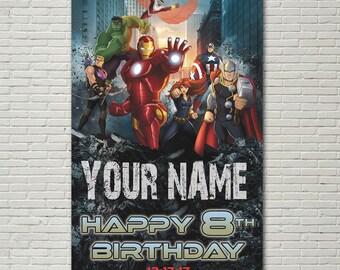 BANNER - Avengers Birthday Banner - Party Banner