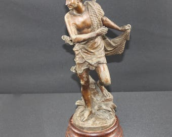 Charles Octave Levy (1820-1899) Spelter Figure of a man