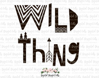 Wild Thing SVG, Wild Thing Printable, Wild Thing Iron-on, Wild Thing Wall Decor, Wild Thing Nursery Decoration, Scandinavian Nursery Decor