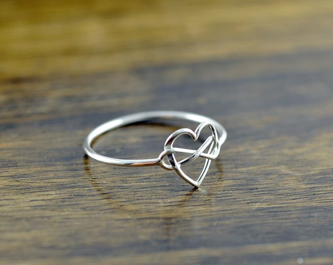 infinity ring, silver rings for women, heart ring, stacking rings, statement rings, gift for her, valentines day, romantic jewelry