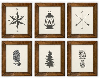 Woodland Boy Room Art, Woodland Nursery Art, Camping Boy Room Art, Nursery Camping Art, Woodland Prints. Camping Prints Boy. Rustic Nursery.