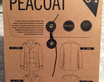 Thread Theory Sewing Pattern. Goldstream Peacoat.