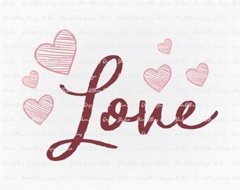 SVG PNG JPG Digital Download Clip Art File - Love Valnetines Day Hearts