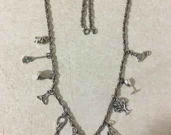 Pagan Symbols charm necklace