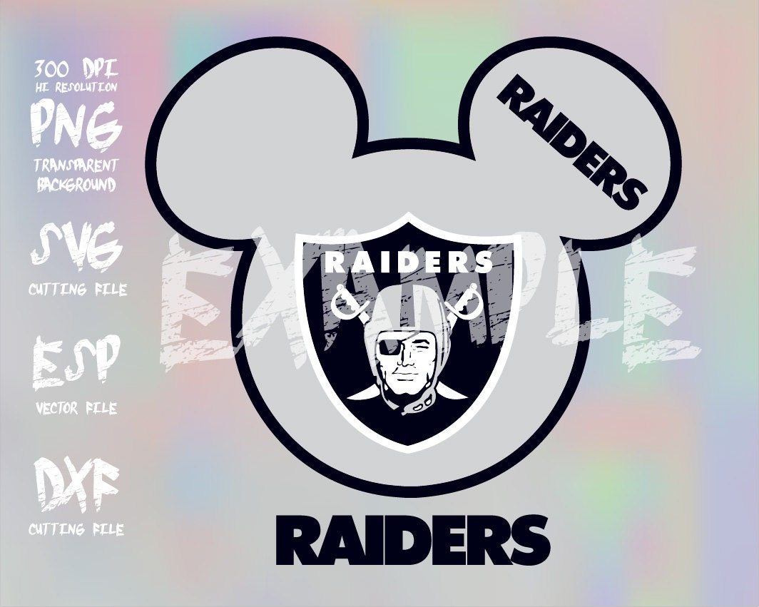 Mickey heads sport logo football team oakland raiders clipartsvg this is a digital file buycottarizona