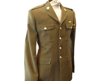 Uniform Man's No.2 Royal Logistic Dress Army Tunic - Size Medium 182/100/84 - Vintage - E198