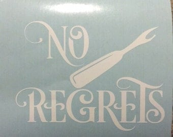 No regrets seam ripper vinyl decal