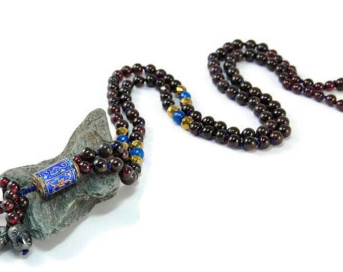 Granada Necklace Mala Boho Style. Yoga. Meditation. Ideas for her. Boho Jewelry. Bohemian Necklace. Tassel Necklace